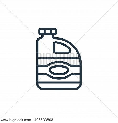 bleach icon isolated on white background from hygiene collection. bleach icon thin line outline line