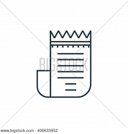 bill icon isolated on white background from online shopping collection. bill icon thin line outline