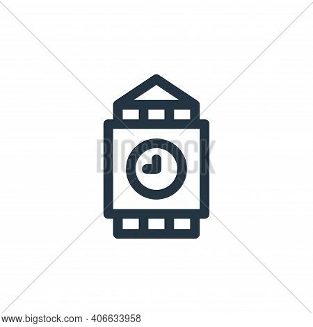 big ben icon isolated on white background from england collection. big ben icon thin line outline li