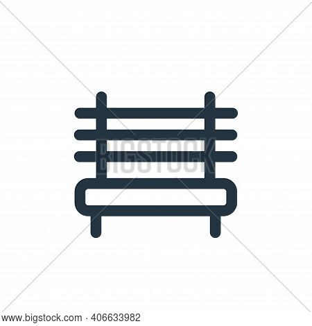 bench icon isolated on white background from landscaping equipment collection. bench icon thin line