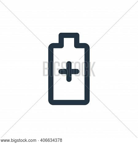 battery icon isolated on white background from user interface collection. battery icon thin line out