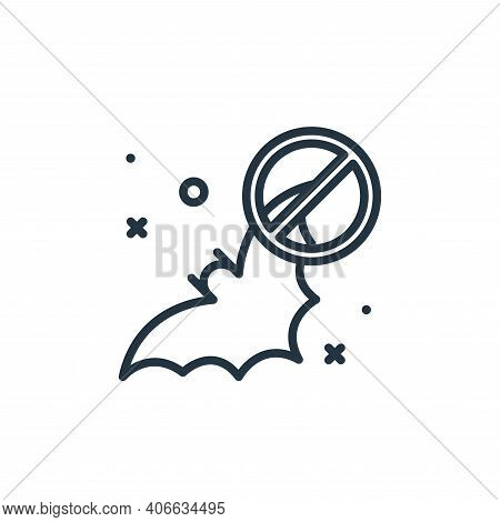 bat icon isolated on white background from virus restrictions collection. bat icon thin line outline