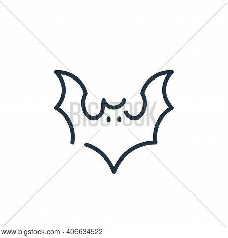 bat icon isolated on white background from virus transmission collection. bat icon thin line outline