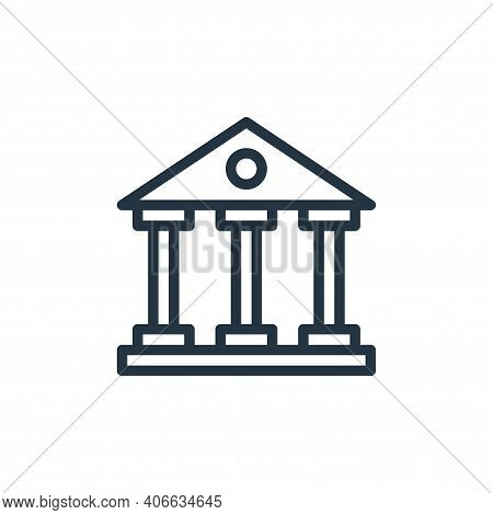 bank icon isolated on white background from business collection. bank icon thin line outline linear