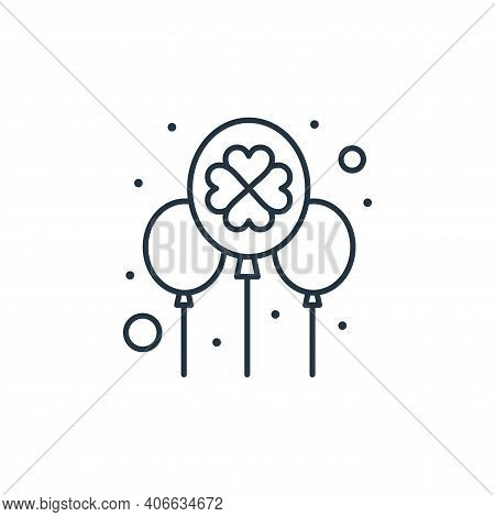 balloon icon isolated on white background from saint patrick collection. balloon icon thin line outl