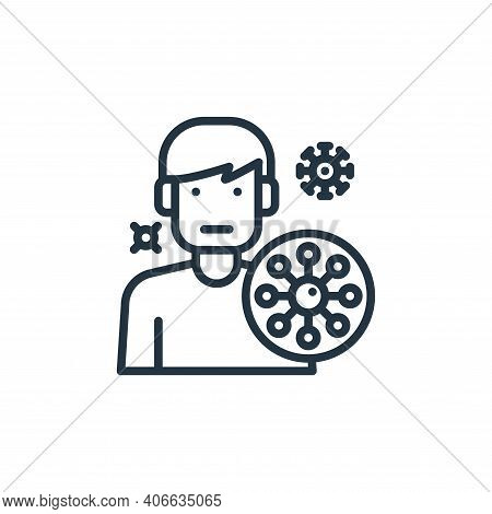 avatar icon isolated on white background from virus collection. avatar icon thin line outline linear