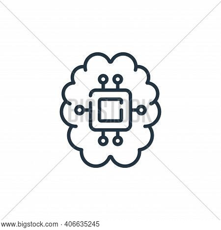 artificial intelligence icon isolated on white background from technology of the future collection.