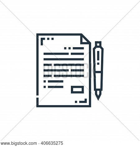 article icon isolated on white background from marketing collection. article icon thin line outline