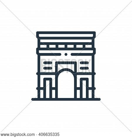 arc icon isolated on white background from europe collection. arc icon thin line outline linear arc