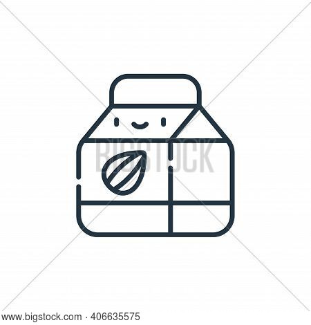 almond milk icon isolated on white background from animal welfare collection. almond milk icon thin