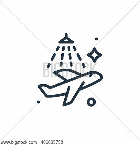 airplane icon isolated on white background from mass disinfection collection. airplane icon thin lin