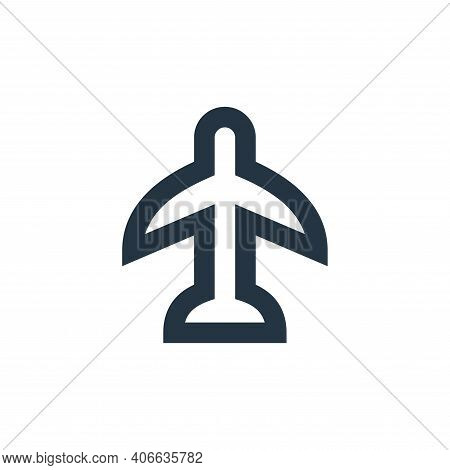 airplane icon isolated on white background from user interface collection. airplane icon thin line o
