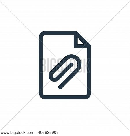 add icon isolated on white background from document and files collection. add icon thin line outline