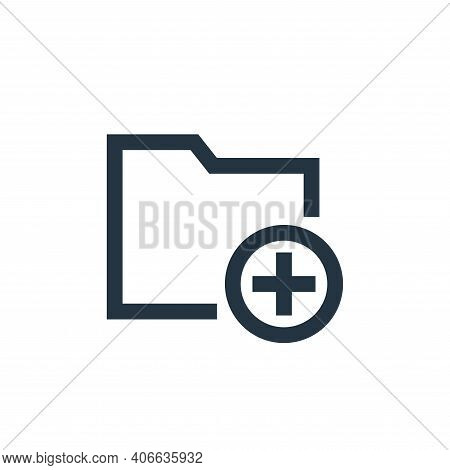 add icon isolated on white background from email collection. add icon thin line outline linear add s