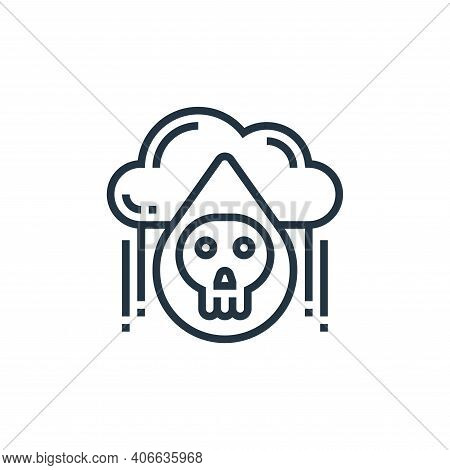 acid rain icon isolated on white background from climate change collection. acid rain icon thin line