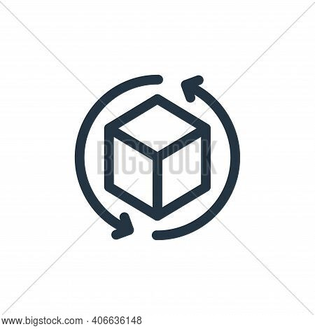 d cube icon isolated on white background from virtual reality collection. d cube icon thin line outl