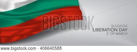 Bulgaria Liberation Day Vector Banner, Greeting Card.