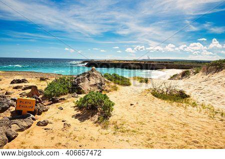 Playa Chikitu, Beautiful Beach On The Caribbean Island Of Bonaire,