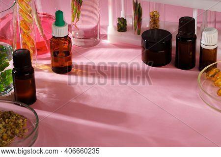 Alternative Medicine Concept. Natural Herbal Homeopathic Medicine