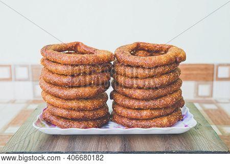Selroti Famous Nepali Style Sweet Bread Made With Rice Flour,sugar & Ghee. Popular Nepali Snacks Sel