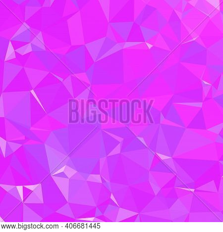 Abstract Pink Triangle Background. Colorful Gradient Mosaic Backdrop. Geometric Background For Desig