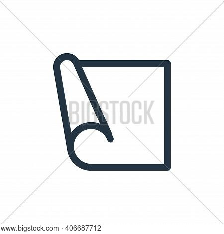 yoga mat icon isolated on white background from pilates collection. yoga mat icon thin line outline