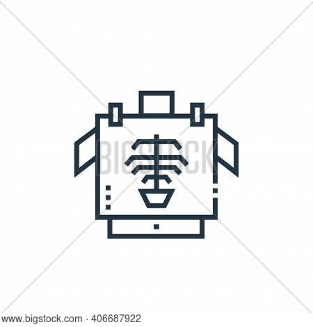 x rays icon isolated on white background from medical services collection. x rays icon thin line out