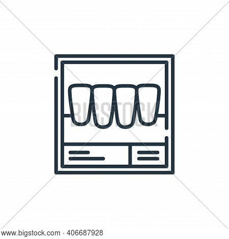 x ray icon isolated on white background from dental care collection. x ray icon thin line outline li