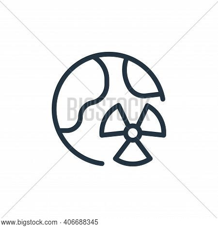 world icon isolated on white background from coronavirus collection. world icon thin line outline li