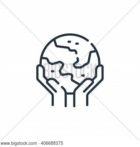 world icon isolated on white background from hope collection. world icon thin line outline linear wo