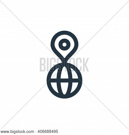 world icon isolated on white background from management collection. world icon thin line outline lin