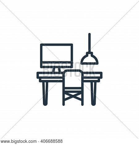 workspace icon isolated on white background from work from home collection. workspace icon thin line