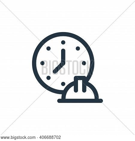working hours icon isolated on white background from labour day collection. working hours icon thin