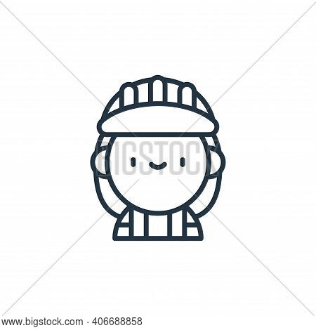 worker icon isolated on white background from labour day collection. worker icon thin line outline l