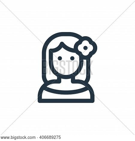 woman icon isolated on white background from mexico collection. woman icon thin line outline linear