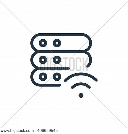 wireless icon isolated on white background from work office server collection. wireless icon thin li