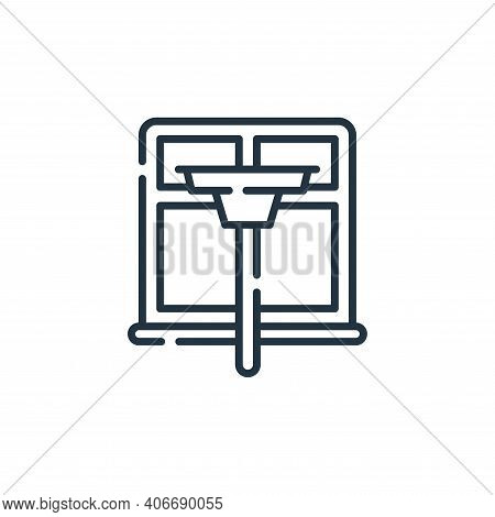 window cleaning icon isolated on white background from hygiene routine collection. window cleaning i