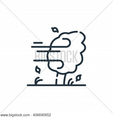 wind icon isolated on white background from climate change collection. wind icon thin line outline l