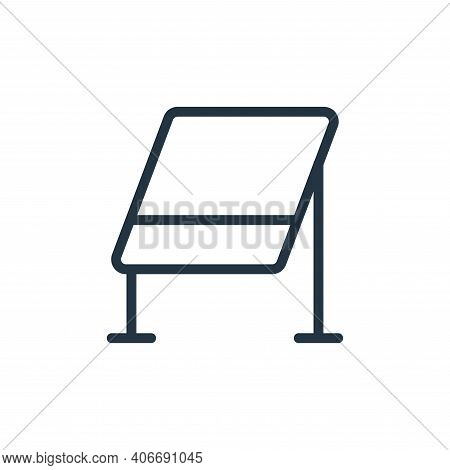 whiteboard icon isolated on white background from work office supply collection. whiteboard icon thi