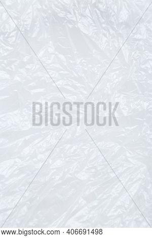White Plastic Or Polyethylene Bag Texture, Macro, Abstract Background