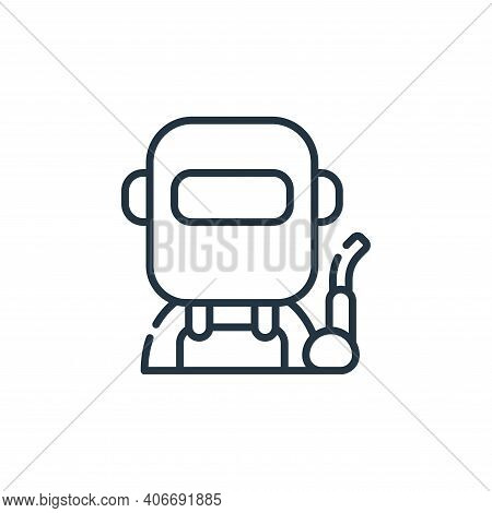 welder icon isolated on white background from labour day collection. welder icon thin line outline l