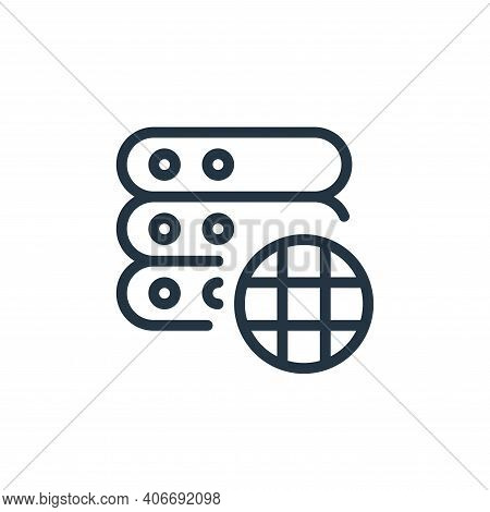 website icon isolated on white background from work office server collection. website icon thin line