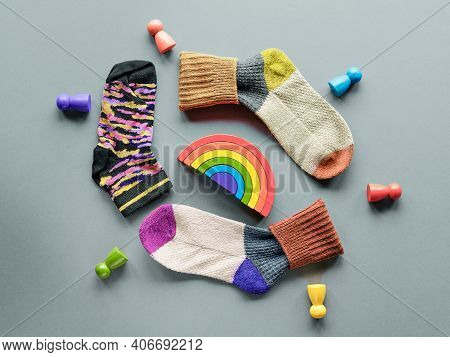 Odd Socks Day. Social Initiative Against Bullying In School Or Workplace. Design Of Poster For Anti-
