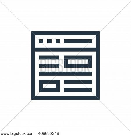website icon isolated on white background from advertisement collection. website icon thin line outl