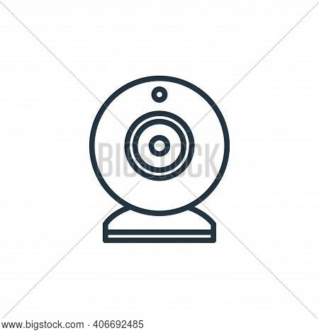 webcam icon isolated on white background from elearning collection. webcam icon thin line outline li