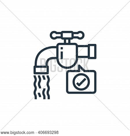 water tap icon isolated on white background from coronavirus collection. water tap icon thin line ou