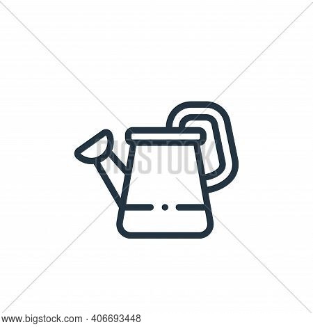 watering can icon isolated on white background from in the village collection. watering can icon thi