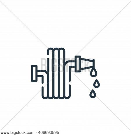 water hose icon isolated on white background from cleaning collection. water hose icon thin line out
