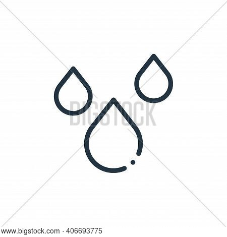 water icon isolated on white background from ecology collection. water icon thin line outline linear