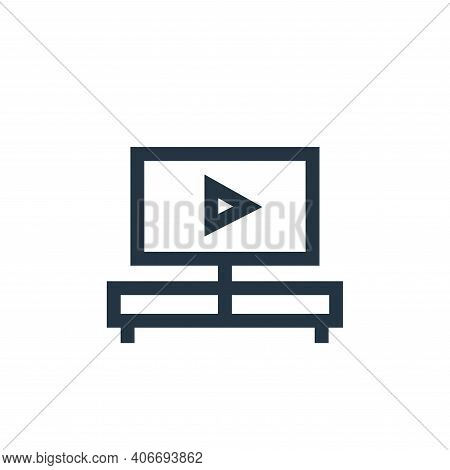 watching tv icon isolated on white background from hobbies collection. watching tv icon thin line ou